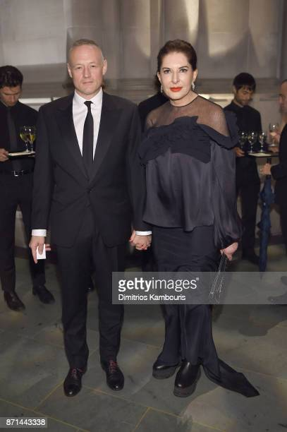 Todd Eckert and Marina Abramovic attend the Elton John AIDS Foundation 25th Year And Honors Founder Sir Elton John During New York Fall Gala at...