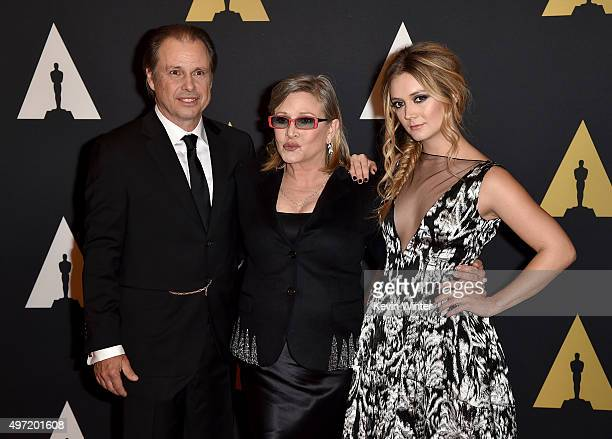 Todd Fisher actresses Carrie Fisher and Billie Catherine Lourd attend the Academy of Motion Picture Arts and Sciences' 7th annual Governors Awards at...
