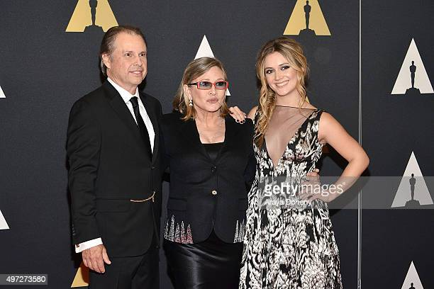 Todd Fisher Carrie Fisher and Billie Catherine Lourd attend the Academy of Motion Picture Arts and Sciences' 7th Annual Governors Awards at The Ray...