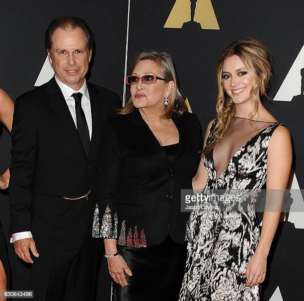 Todd Fisher Carrie Fisher and Billie Lourd attend the 7th annual Governors Awards at The Ray Dolby Ballroom at Hollywood Highland Center on November...