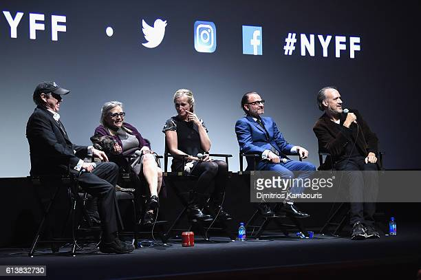 Todd Fisher Carrie Fisher director Alexis Bloom Fisher Stevens and Kent Jones speak onstage at 'Bright Lights' Intro and QA at Alice Tully Hall...