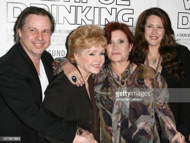 Todd Fisher Debbie Reynolds Carrie Fisher and Joely Fisher 'Wishful Drinking' Los Angeles Premiere at Linwood Dunn Theater at the Pickford Center for...