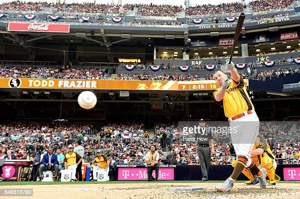 Todd Frazier of the Chicago White Sox competes during the TMobile Home Run Derby at PETCO Park on July 11 2016 in San Diego California