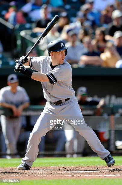 Todd Frazier of the New York Yankees bats against the Baltimore Orioles at Oriole Park at Camden Yards on September 7 2017 in Baltimore Maryland