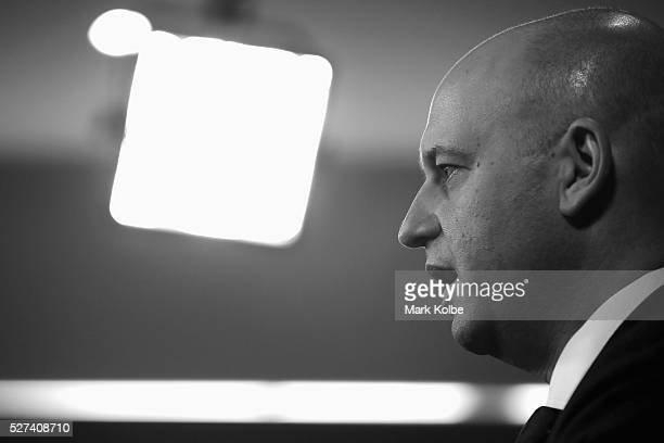 NRL CEO Todd Greenberg speaks to the media during an NRL press conference at NRL Headquarters on May 3 2016 in Sydney Australia The NRL announced...