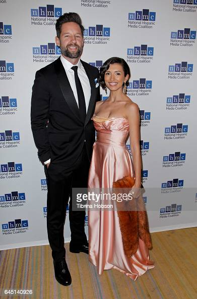 Todd Grinnell and India De Beaufort attend the National Hispanic Media Coalition's 20th Annual Impact Awards Gala at Regent Beverly Wilshire Hotel on...