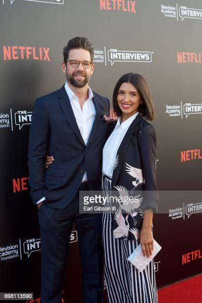 Todd Grinnell and India de Beaufort attend the Television Academy Foundation And Netflix Presents The Power Of TV A Conversation With Norman Lear and...
