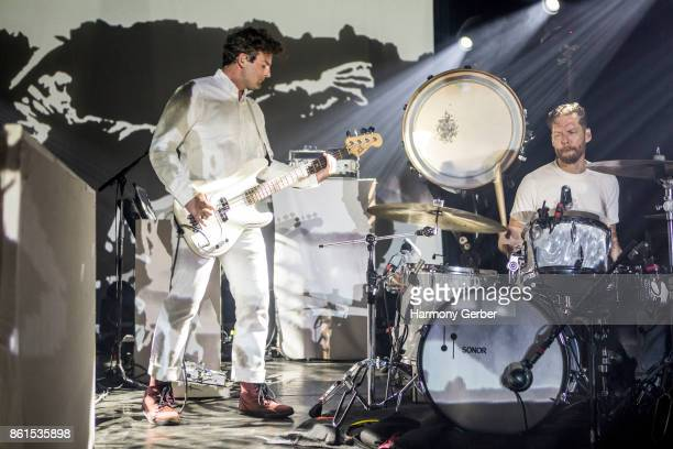 Todd Gummerman and Jonathan Allen of the band Mutemath perform at The Observatory on October 14 2017 in Santa Ana California