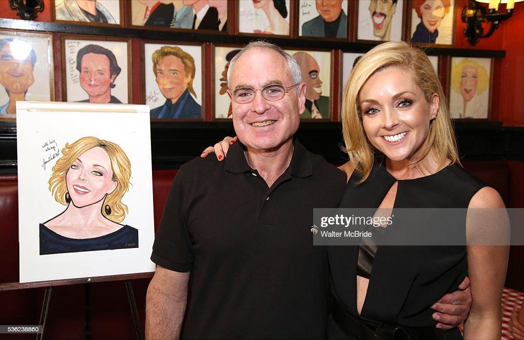 Todd Haimes and Jane Krakowski attend the Jane Krakowski Sardi's portrait unveiling at Sardi's on May 31, 2016 in New York City.