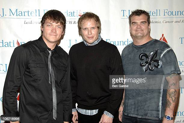 Todd Harrell Matt Roberts and Chris Henderson of 3 Doors Down attend the 35th Annual Awards Gala hosted by the TJ Martell Foundation at Marriot...