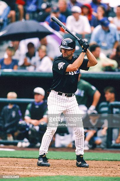 Todd Helton of the Colorado Rockies during the AllStar Home Run Contest on July 6 1998 at Coors Field in Denver Colorado