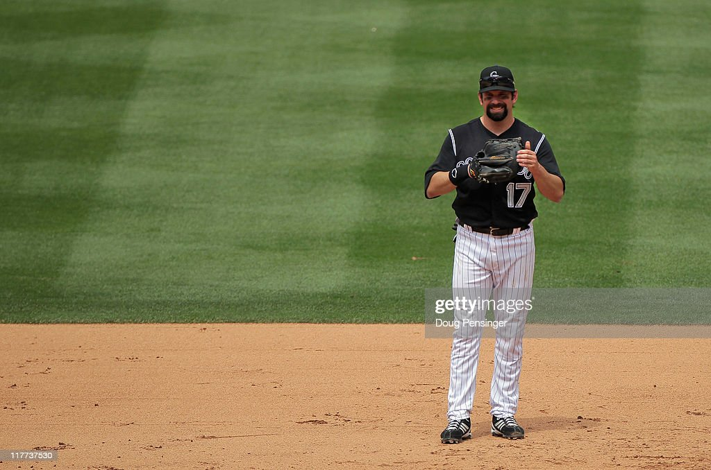 <a gi-track='captionPersonalityLinkClicked' href=/galleries/search?phrase=Todd+Helton&family=editorial&specificpeople=200735 ng-click='$event.stopPropagation()'>Todd Helton</a> #17 of the Colorado Rockies plays defense against the Chicago White Sox during Interleague play at Coors Field on June 30, 2011 in Denver, Colorado. Helton played in his 2000th career Major League Baseball game, all of them with the Colorado Rockies.