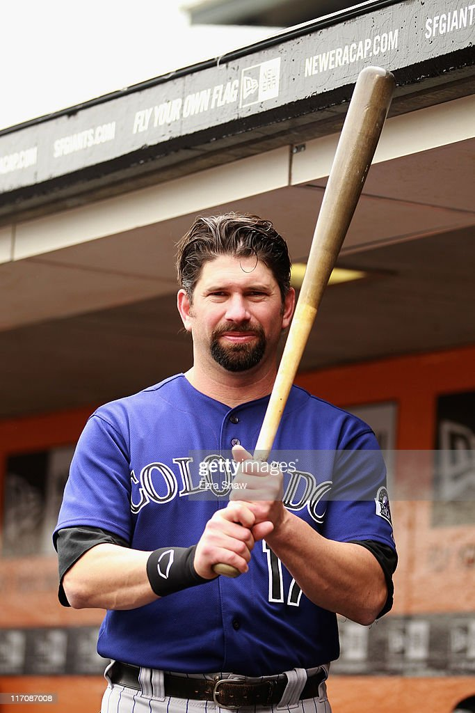 <a gi-track='captionPersonalityLinkClicked' href=/galleries/search?phrase=Todd+Helton&family=editorial&specificpeople=200735 ng-click='$event.stopPropagation()'>Todd Helton</a> #17 of the Colorado Rockies stands in the dugout before their game against the San Francisco Giants at AT&T Park on June 5, 2011 in San Francisco, California.