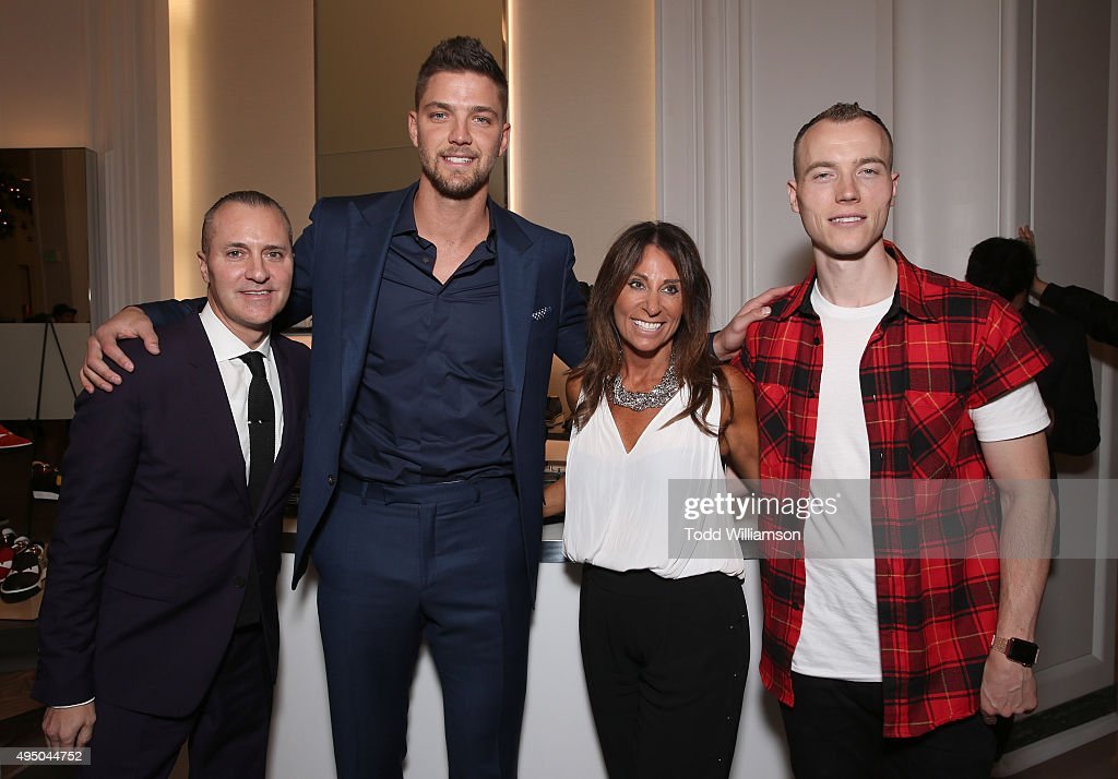 Todd Hoyles, Chandler Parsons, Beth Moskowitz and DJ Skee attend a Del Toro Chandler Parsons Event at Saks Fifth Avenue Beverly Hills on October 30, 2015 in Beverly Hills, California.