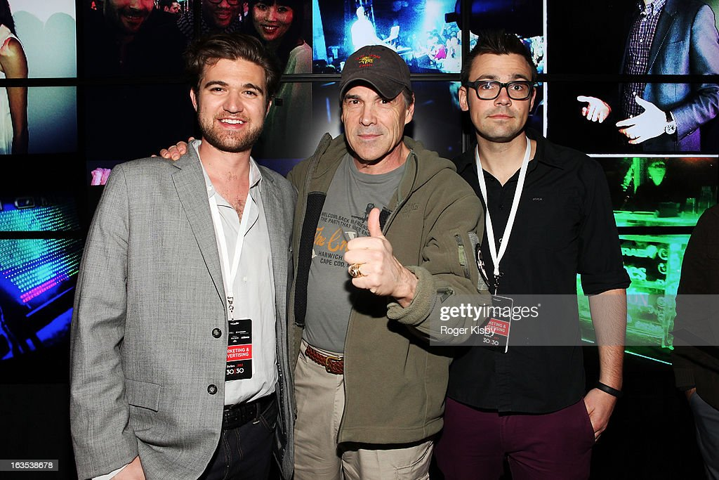 Todd Hunter, Texas Governor Rick Perry and Brendan Gahan attend Forbes' '30 Under 30' SXSW Private Party on March 11, 2013 in Austin, Texas.