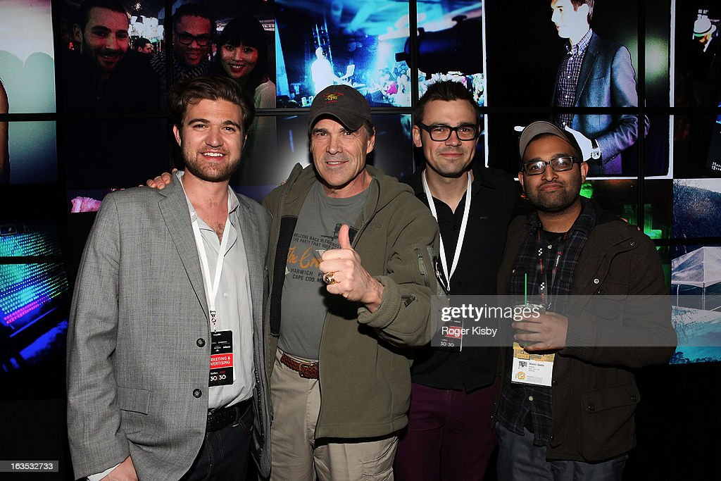 Todd Hunter, Texas Governor Rick Perry, Brendan Gahan and Nikhil Sethi attend Forbes' '30 Under 30' SXSW Private Party on March 11, 2013 in Austin, Texas.