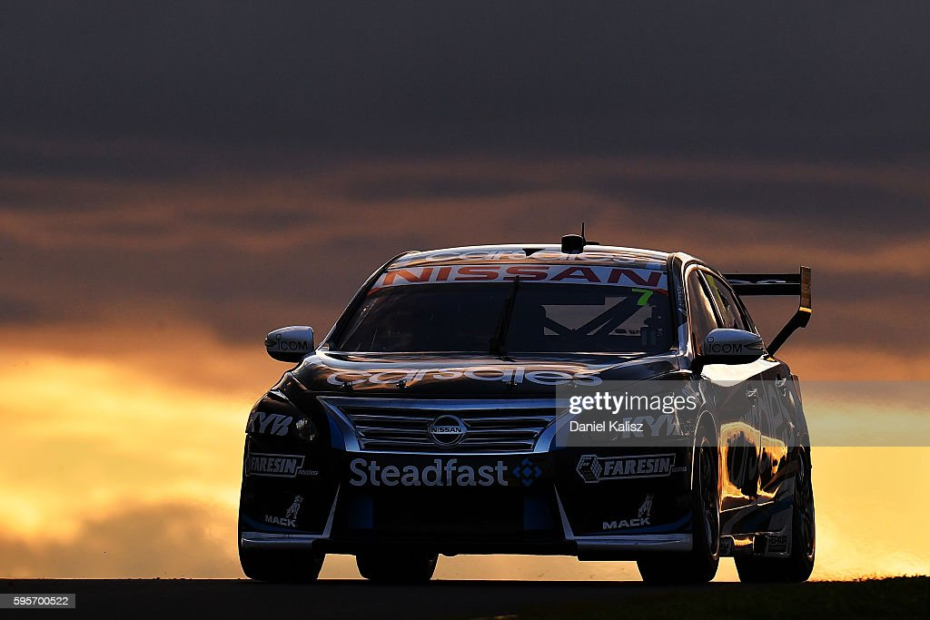 Todd Kelly drives the Carsales Racing Nissan Altima during practice for the V8 Supercars Sydney SuperSprint at Sydney Motorsport Park on August 26...