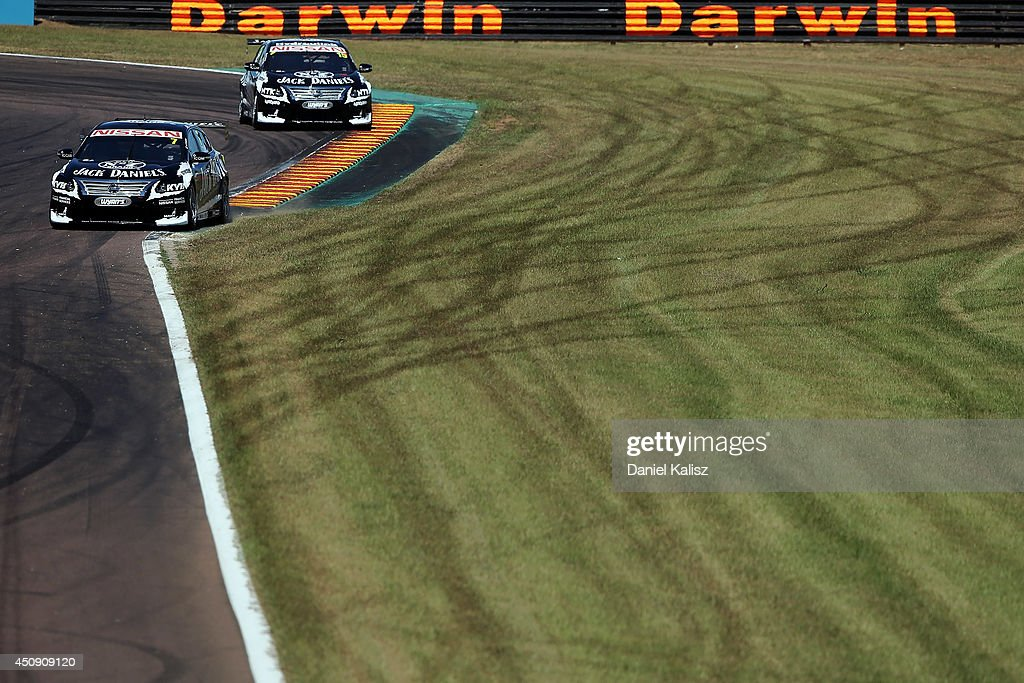 Todd Kelly drives the #7 Jack Daniel's Racing Nissan during practice for the Triple Crown Darwin, which is round six of the V8 Supercar Championship Series at Hidden Valley Raceway on June 20, 2014 in Darwin, Australia.
