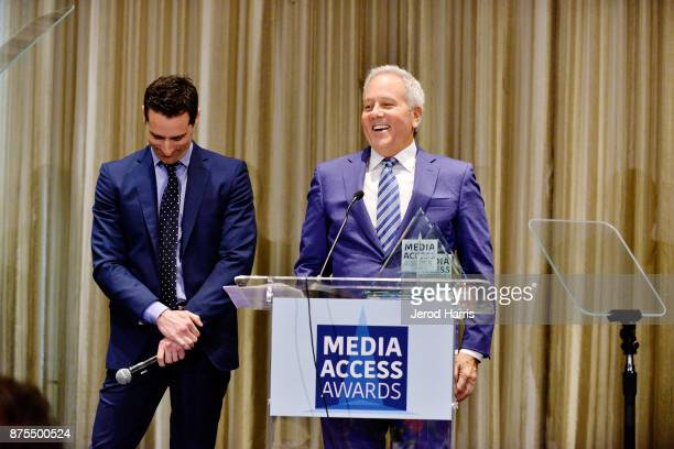 Todd Lieberman and David Hoberman attend the Media Access Awards 2017 at The Four Seasons on November 17 2017 in Beverly Hills California