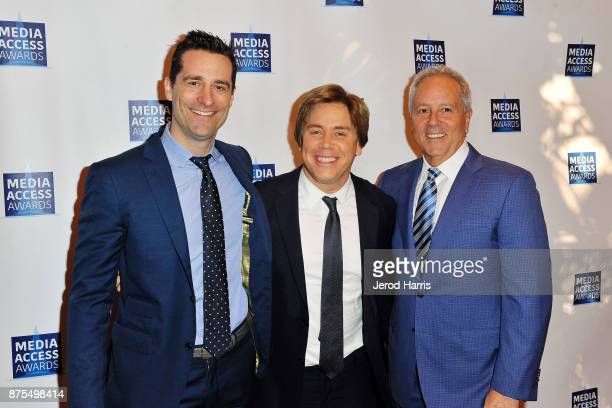 Todd Lieberman Stephen Chbosky and David Hoberman attend the Media Access Awards 2017 at The Four Seasons on November 17 2017 in Beverly Hills...
