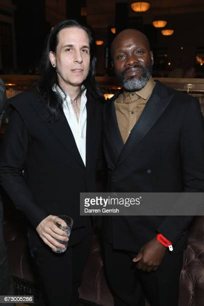 Todd Lynn and Gary Powell attend Roland Mouret's The Dinner of Love at Cecconi's a preopening dinner at The Ned on April 25 2017 in London England