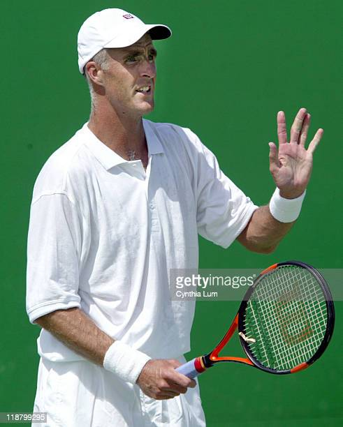 Todd Martin defeating newcomer Ivo Karlovic 76 76 76 in the second round of the Australian Open Melbourne January 21 2003