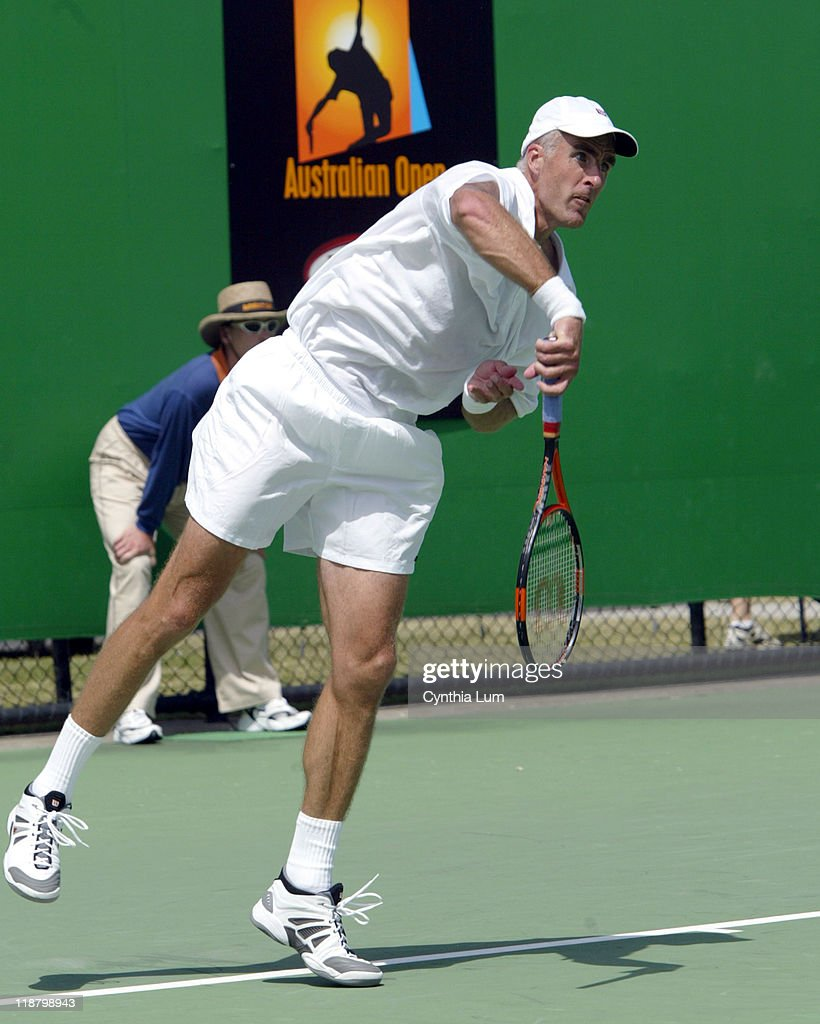 <a gi-track='captionPersonalityLinkClicked' href=/galleries/search?phrase=Todd+Martin&family=editorial&specificpeople=209234 ng-click='$event.stopPropagation()'>Todd Martin</a> won the battle of the big serves defeating newcomer <a gi-track='captionPersonalityLinkClicked' href=/galleries/search?phrase=Ivo+Karlovic&family=editorial&specificpeople=605320 ng-click='$event.stopPropagation()'>Ivo Karlovic</a> 7-6, 7-6, 7-6 in the second round of the Australian Open, Melbourne January 21, 2003.
