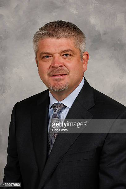 Todd McLellan Head Coach of the San Jose Sharks poses for his official headshot for the 201415 season on September 18 2014 at Sharks Ice in San Jose...