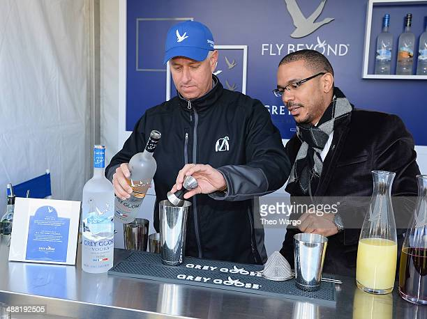 Todd Pletcher and Grey Goose Brand Ambassador Randy Evans attend Grey Goose Toasts Todd Pletcher at the Kentucky Derby at Churchill Downs on May 1...