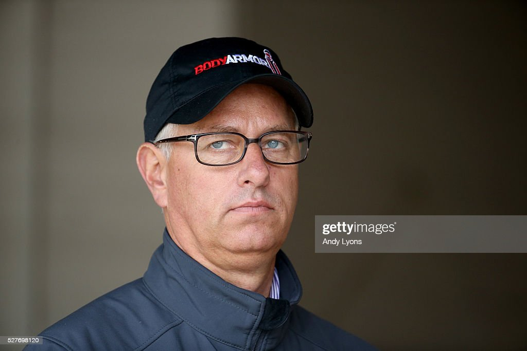<a gi-track='captionPersonalityLinkClicked' href=/galleries/search?phrase=Todd+Pletcher&family=editorial&specificpeople=201212 ng-click='$event.stopPropagation()'>Todd Pletcher</a> the trainer of Destin and Outwork is pictured in the barn area during the morning training for the 2016 Kentucky Derby at Churchill Downs on May 03, 2016 in Louisville, Kentucky.
