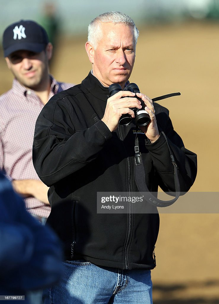 Todd Pletcher watches his horses train during the morning training in preperations for the 2013 Kentucky Derby at Churchill Downs on April 30, 2013 in Louisville, Kentucky.
