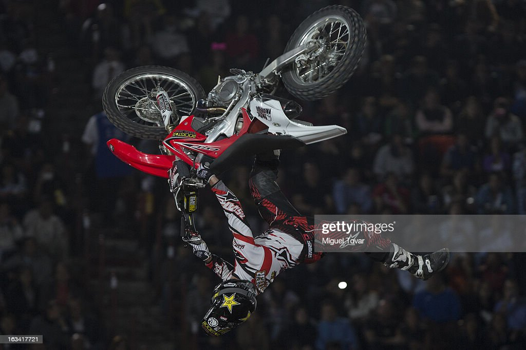 Todd Potter competes in the Red Bull X-Fighters Moto Cross at plaza de toros Mexico on March 08, 2013 in Mexico City, Mexico.