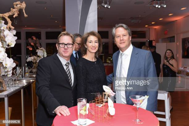 Todd Quartararo Erica Castle Kedric Francis attend the New York Premiere and Celebration of Documentary Film 'Henry T Segerstrom Imagining The...