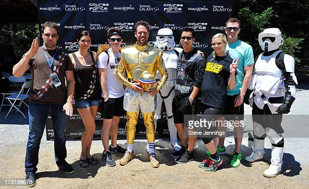 Todd Rey Adrianne Curry Chris Colfer Alexis Denisof Jared Eng Jaime King and Kyle Newman attend the Course Of The Force 2013 An Epic Lightsaber Relay...