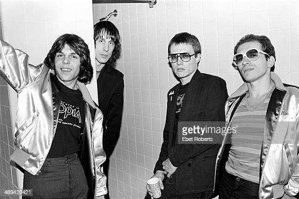 Todd Rundgren and Utopia backstage at Nassau Coliseum in Uniondale Long Island NY on June 7 1980