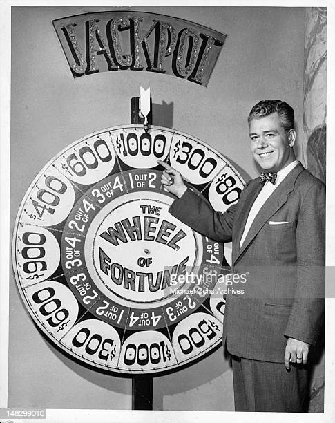 Todd Russell in promotional still for television game show 'Wheel Of Fortune' 1952