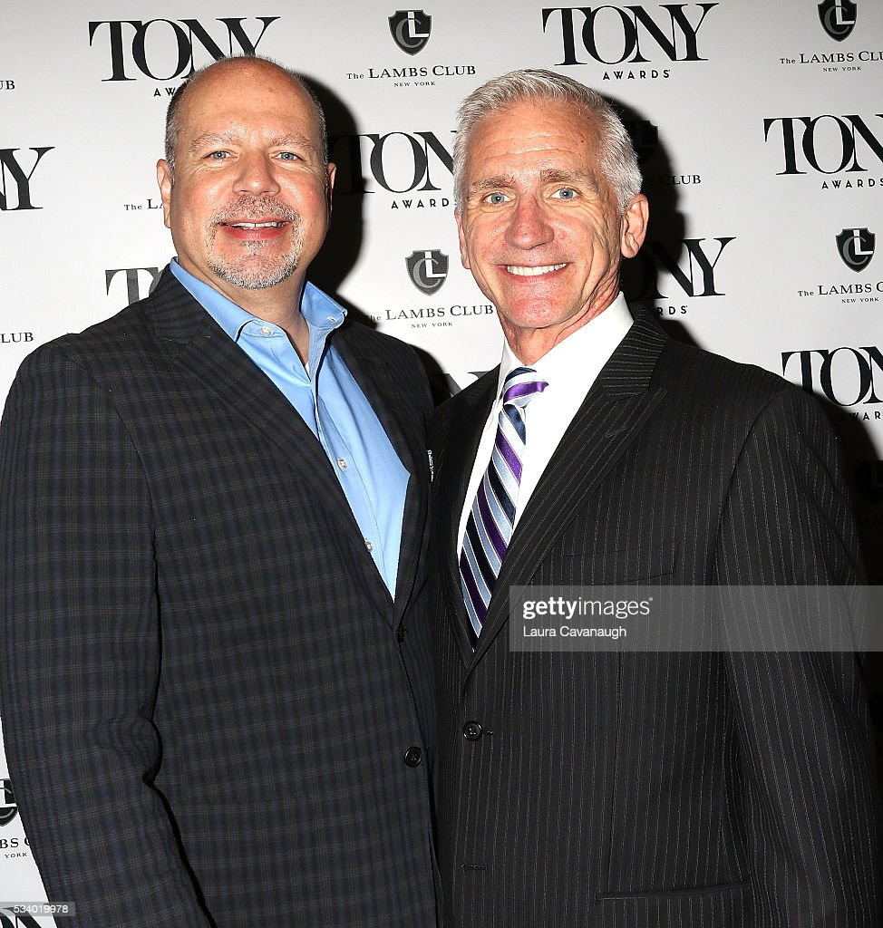 Todd Schmidt and Mark Hoebee attend A Toast to The 2016 Tony Awards Creative Arts Nominees on May 24, 2016 in New York City.