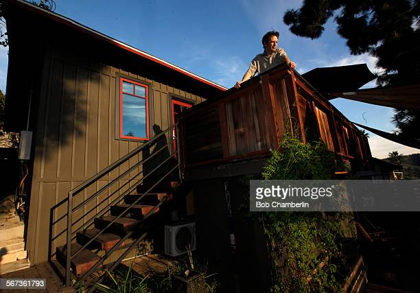 Todd Segal on the back deck at his 625squarefoot home in Highland Park which the contractor redid himself on JANUARY 27 2015 The house was built in...