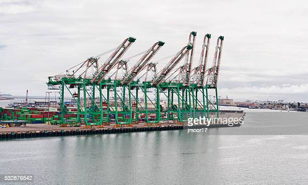 Todd Shipyard San Pedro with Cranes and Shipping Containers