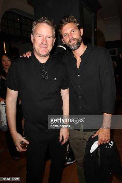 Todd Snyder and RJ Rogenski Akin Akman attends the Todd Snyder x Akin's Army Collaboration Launch at Todd Snyder Flagship Store on August 17 2017 in...