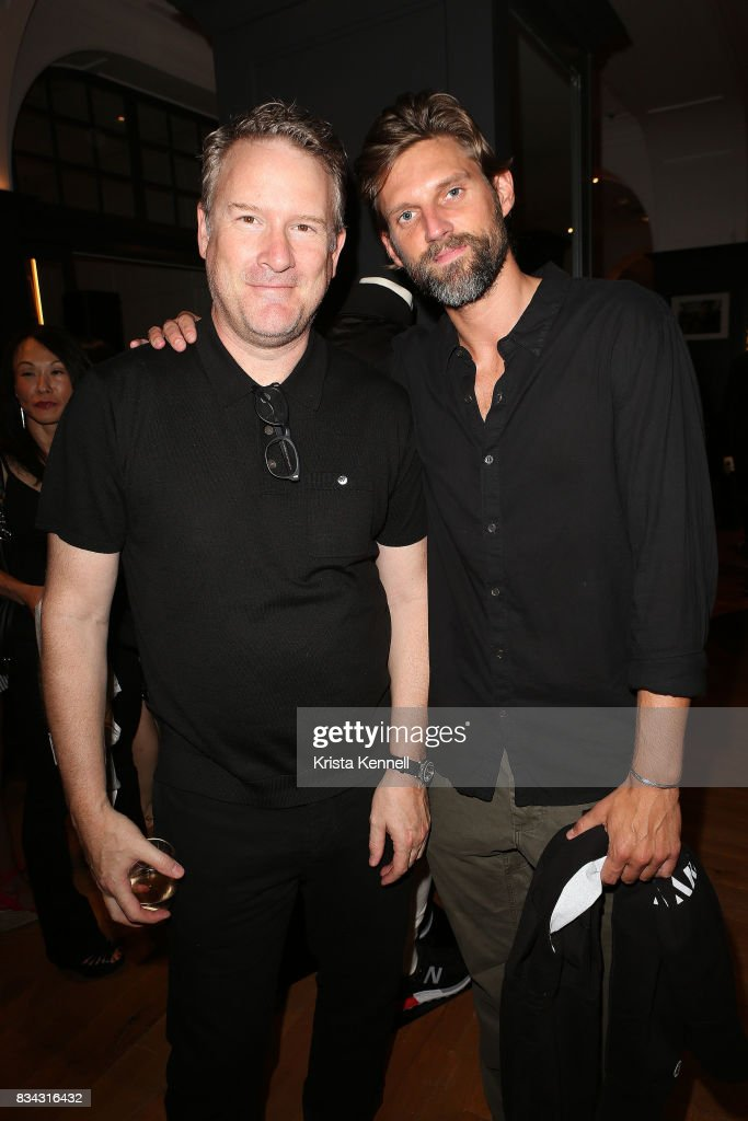 Todd Snyder and RJ Rogenski attends the Todd Snyder x Akin's Army Collaboration Launch at Todd Snyder Flagship Store on August 17, 2017 in New York City.