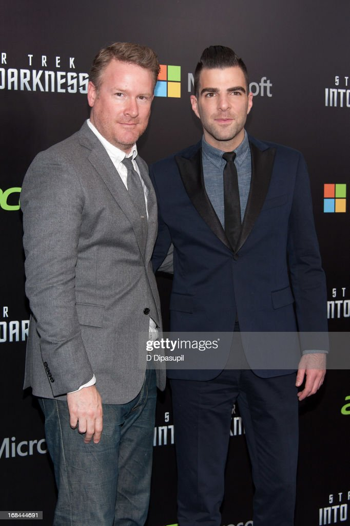 Todd Snyder (L) and Zachary Quinto attend the 'Star Trek Into Darkness' screening at AMC Loews Lincoln Square on May 9, 2013 in New York City.