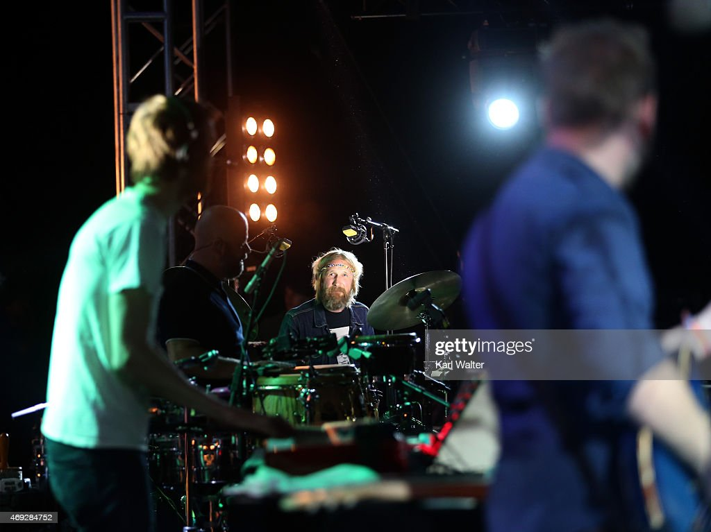 DJ Todd Terje and the Olsens perform onstage during day 1 of the 2015 Coachella Valley Music & Arts Festival (Weekend 1) at the Empire Polo Club on April 10, 2015 in Indio, California.