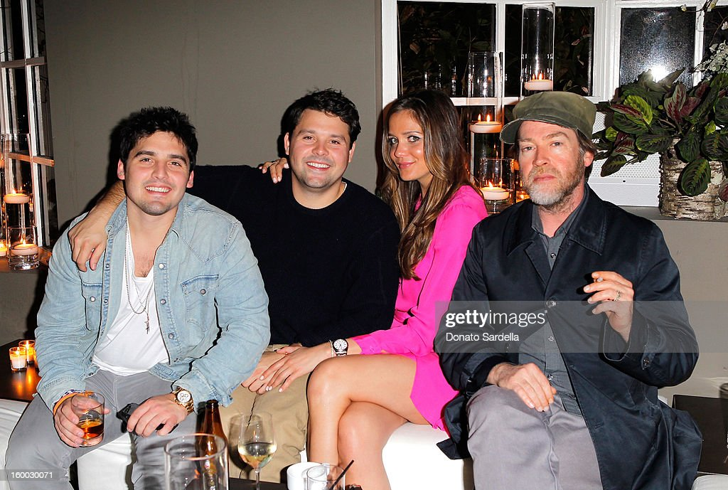 Todd Thompson, Tyler Thompson, Kaitlynn Candies, and Patrick Hoelck attend Ferragamo presents Spring Runway Collection with VIP dinner, hosted by Jacqui Getty and Harpers BAZAAR at Chateau Marmont on January 24, 2013 in Los Angeles, California.