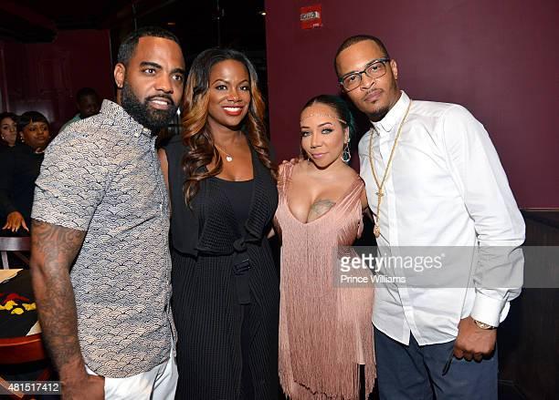 Todd Tucker Kandi Burruss Tameka 'Tiny' Harris and TI attend 'Tiny' Tameka Harris Celebrity Birthday Affair at Scales 925 Restaurant on July 14 2015...