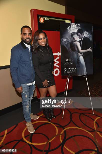 Todd Tucker with wife recording Artist Kandi Burruss attend at FIFTY SHADES DARKER Atlanta Private Screening Hosted by Kandi Burruss at AMC Phipps...