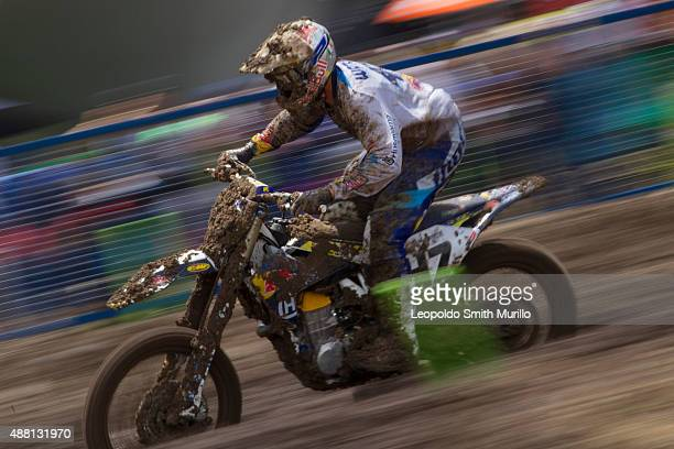 Todd Waters of Australia and Red Bull IceOne Husqvama Factory Racing competes during the Day 2 of the MXGP Leon 2015 at Parque Metropolitano on...