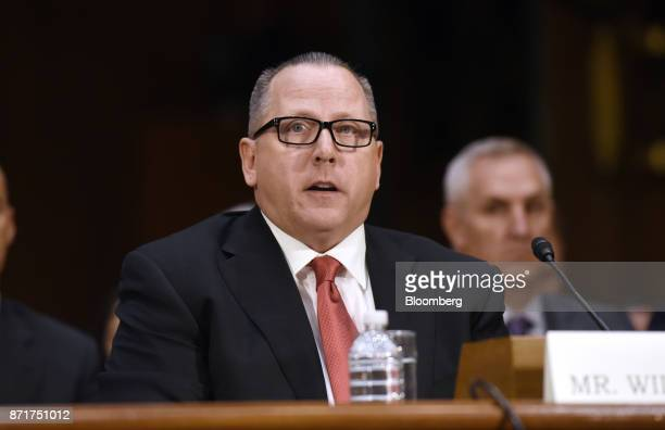 Todd Wilkinson president and chief executive officer of Entrust Datacard Corp testifies during a Senate Commerce Science and Transportation Committee...