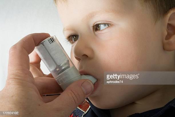 toddler and inhaler