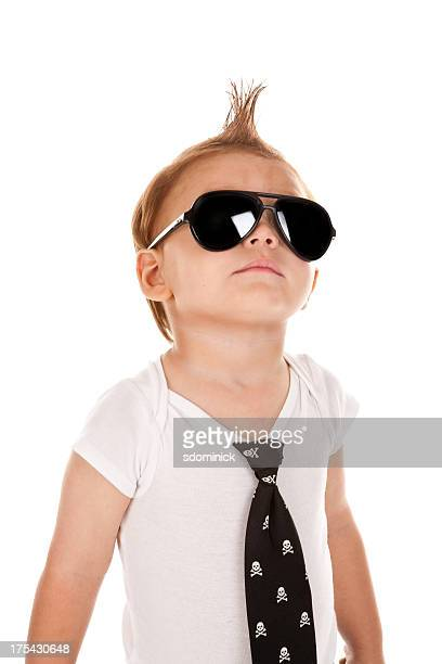 Toddler Boy In Sunglasses and Mohawk